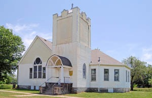 Though there were once several churches in Neosho Falls, the only one left today is the Methodist Church, Kathy Weiser-Alexander.