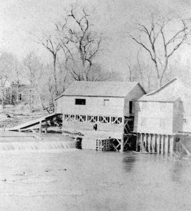 Neosho Falls, Kansas Roller Mill about 1860.