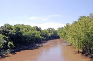 Marais des Cygnes River near Pleasanton by Kathy Weiser-Alexander.