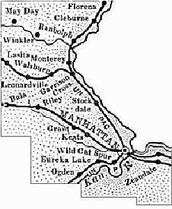 Riley County, Kansas Map 1899