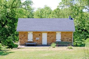 Hadsall House, Trading Post, Kansas by Kathy Weiser-Alexander.