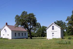 Buildings in Trading Post, Kansas by Kathy Weiser-Alexander.