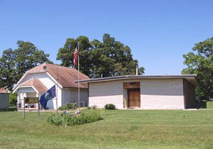 Museum in Trading Post, Kansas by Kathy Weiser-Alexander.