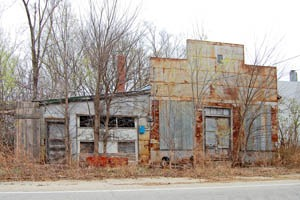 An old business building in Zeandale, Kansas by Kathy Weiser-Alexander.