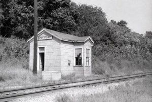 St. Louis & San Francisco Railroad Box Depot in Boicourt, Kansas.