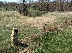 Big Timbers Creek Crossing on the Fort Hays-Fort Dodge Trail, photo courtesy Santa Fe Trail Research