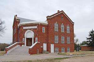 Lone Star German Methodist Episcopal Church in Bison, Kansas. Photo by Kathy Weiser-Alexander.