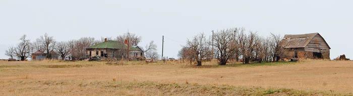 An old homestead in Ellsworth County, Kansas by Kathy Weiser-Alexander.
