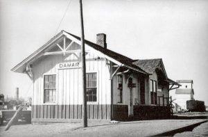 Union Pacific Depot in Damar, Kansas.