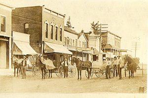 Vintage Main Street in Eudora, Kansas.