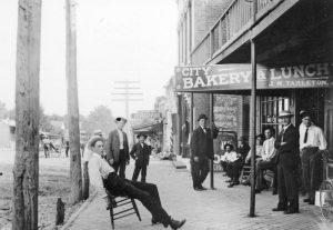 Eudora, Kansas Sidewalk about 1915.