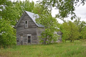 An old abandoned home in Kackley, Kansas by Kathy Weiser-Alexander.