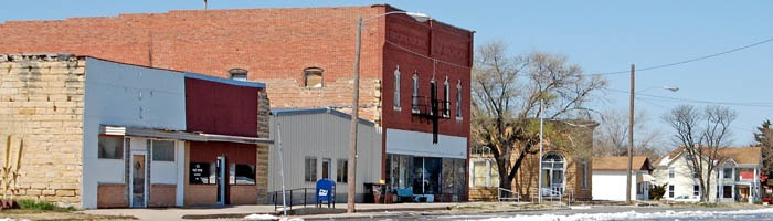 McCracken, Kansas Main Street by Kathy Weiser-Alexander.