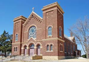 St Marys Church in McCracken, Kansas by Kathy Weiser-Alexander.