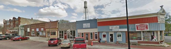 Oskaloosa, Kansas Business District courtesy Google Maps.