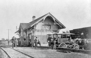 Missouri Pacific Railroad Depot in Oskaloosa, Kansas.