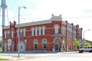 Union block in Oskaloosa, Kansas today by Kathy Weiser-Alexander.
