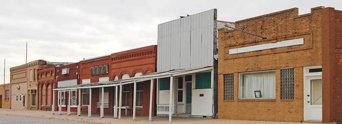 Otis, Kansas Main Street by Kathy Weiser-Alexander.
