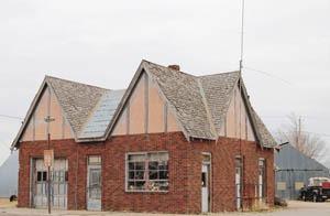 An old gas station in Otis, Kansas by Kathy Weiser-Alexander.