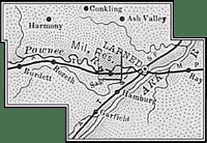 Pawnee County, Kansas Map, 1899.