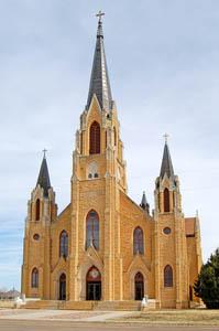 Holy Cross Church in Pfiefer, Kansas by Kathy Weiser-Alexander.