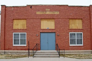 Township Hall in Rush Center, Kansas by Kathy Weiser-Alexander.