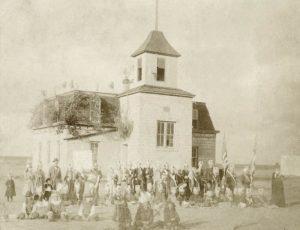 Rush Center, Kansas School 1895.