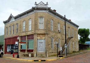 The Chase County Historical Society is located in the old Chase County National Bank by Kathy Weiser-Alexander.