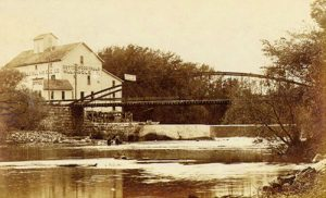 Mill on the Cottonwood River in Cottonwood Falls, Kansas.