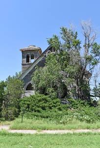 Methodist Church in Gem, Kansas today by Kathy Weiser-Alexander.