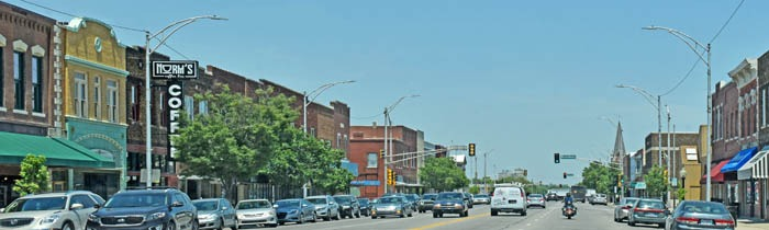 Newton, Kansas Business District by Kathy Weiser-Alexander.