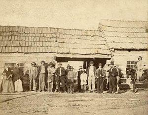 Potawatomie Mission at St. Marys, Kansas by  Alexander Gardner, 1867.