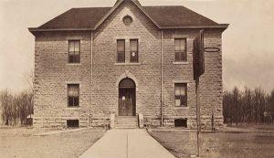 Randolph, Kansas school about 1910.