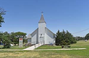 Episcopal Church in Russell Springs, Kansas by Kathy Weiser-Alexander.
