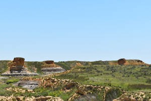 Rock outcroppings near Russell Springs, Kansas by Kathy Weiser-Alexander.