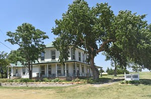 The Logan House still stands in Russell Springs, Kansas serving as a hotel by Kathy Weiser-Alexander.