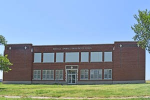 The school in Russell Springs, Kansas is closed today by Kathy Weiser-Alexander.
