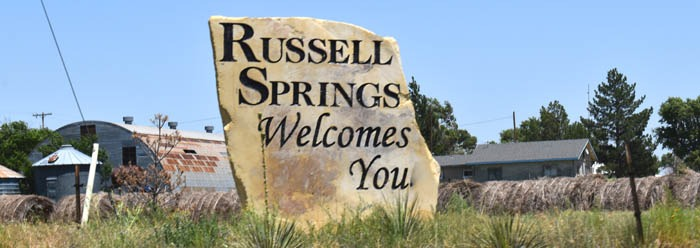 Welcome to Russell Springs, Kansas by Kathy Weiser-Alexander.