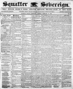 Squatter Sovereign newspaper