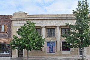 Old bank building in St. Francis, Kansas by Kathy Weiser-Alexander.