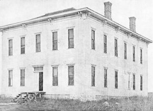 First Cheyenne County Courthouse in St. Francis, Kansas.