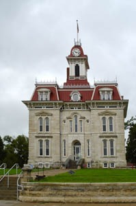 Chase County Courthouse in Cottonwood Falls, Kansas by Kathy Weiser-Alexander.
