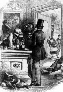 Bar of Destructions by Harper's Weekly.