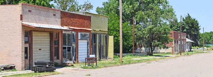 Clayton, Kansas Main Street by Kathy Weiser-Alexander.