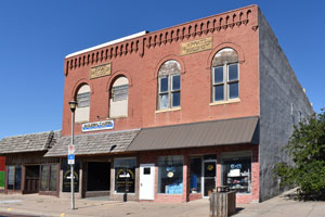 Business buildings in Colby, Kansas by Kathy Weiser-Alexander.