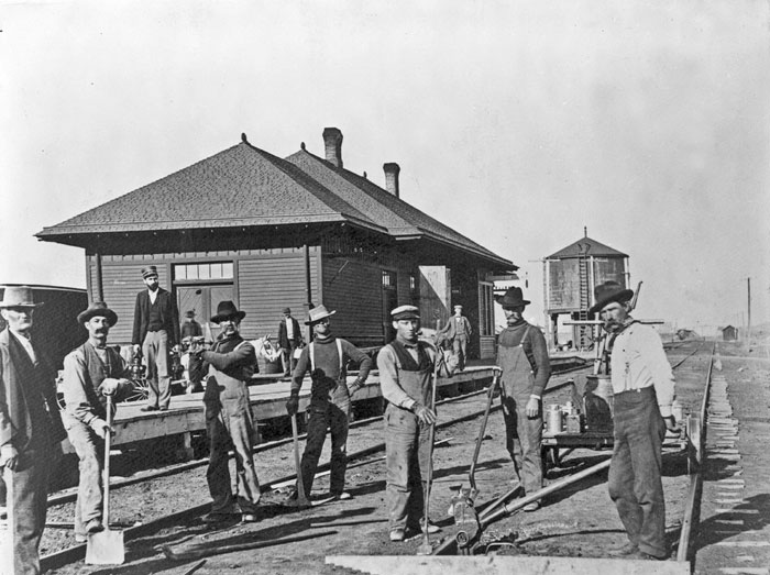 Chicago, Rock Island & Pacific Railroad Depot in Colby, Kansas.