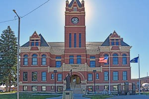 The Thomas County Courthouse in Colby, Kansas was built in 1907, by Kathy Weiser-Alexander.