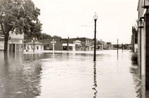 Flooding in Council Grove, Kansas, 1951.