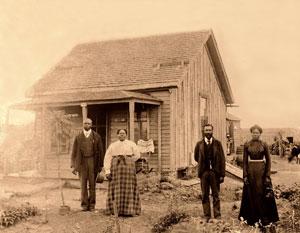 Exodusters in Nicodemus, Kansas