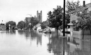 Flooding in Hays, Kansas, 1951.
